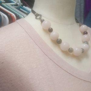 Pair of Lane Bryant Shimmer V-neck Tees